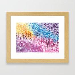 Abstract Landscape Illustration Framed Art Print