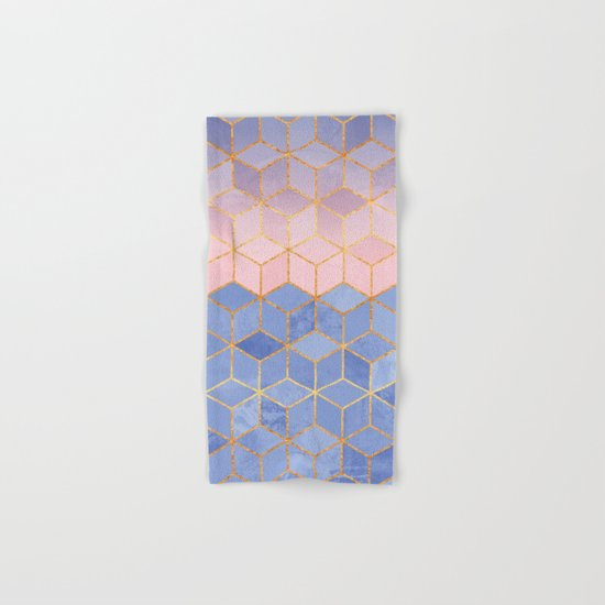 Rose Quartz & Serenity Cubes Hand & Bath Towel