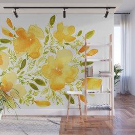 Watercolor California poppies (Quad set, #1) Wall Mural