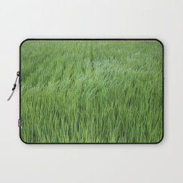 A rice field on a windy day Laptop Sleeve