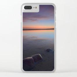 Sunset At The Beach. Magic beach Clear iPhone Case