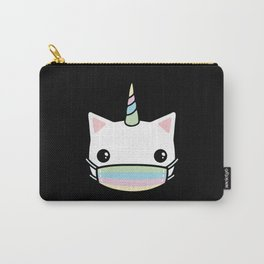 rainbow face mask cat Carry-All Pouch