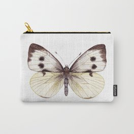 Large White Butterfly Carry-All Pouch