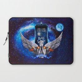 The Angel with Tardis Laptop Sleeve