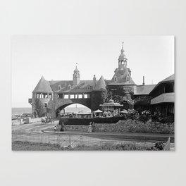 1890 Narragansett Towers & Casino, Narragansett, Rhode Island Canvas Print