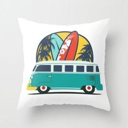Surf Lover Throw Pillow