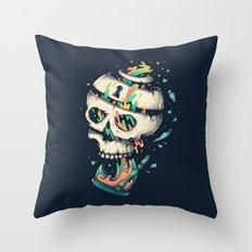 Fragile Delusion of Life and Death Throw Pillow