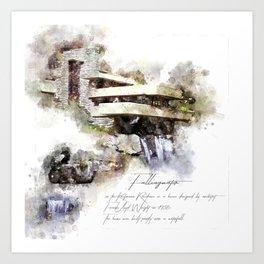 Falingwater Watercolor Art Print