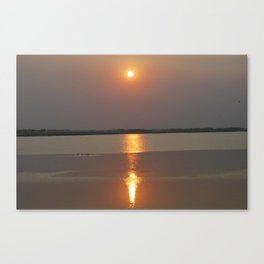 Smokey Sunset Canvas Print