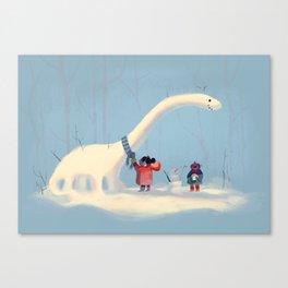 Frozen Dino Canvas Print