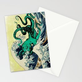 Great Octo-Wave Stationery Cards