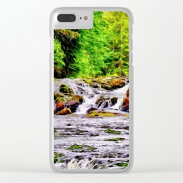 Shimmering Falls Clear iPhone Case