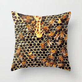 Sweet Honey Harvest Throw Pillow