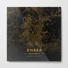 Dhaka, Bangladesh - Gold Metal Print