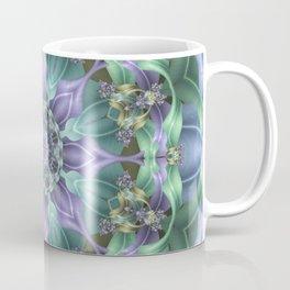 Ribbon Mandala in Blue and Purple Coffee Mug