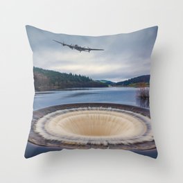 Dam Runner Throw Pillow