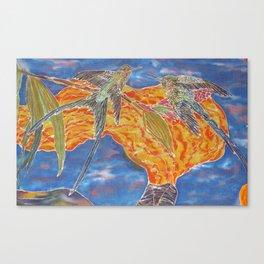The Sanctuary - Hummingbirds Canvas Print