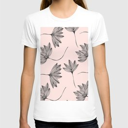 Pink Retro Floral Pattern - Mix and Match with Simplicity of Life T-shirt