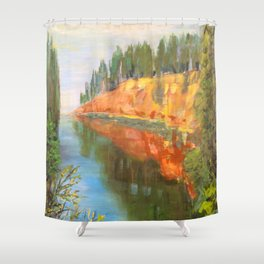 Salaca River in Northern Latvia Shower Curtain