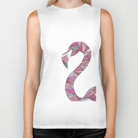 flamingo Biker Tanks featuring Flamingo by Suzz in Colour
