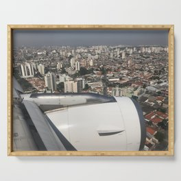 São Paulo From Above IV Serving Tray