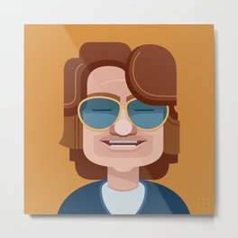 Comics of Comedy: Mitch Hedberg Metal Print