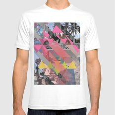 collage White Mens Fitted Tee MEDIUM