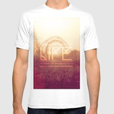 The more twists made my life ... White Mens Fitted Tee MEDIUM