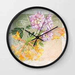 June Flowers Wall Clock