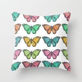 Watercolor Butterfly Collection  Throw Pillow