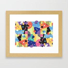 Colourful Memphis Block Design Framed Art Print