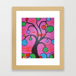 Circle Tree Framed Art Print
