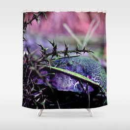 Mushrooms from other planet Shower Curtain