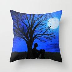 Peaceful night Throw Pillow