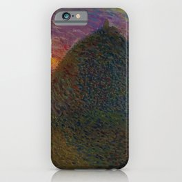 The Evening Haystack at Sunset by Henri Jean Guillaume Martin iPhone Case