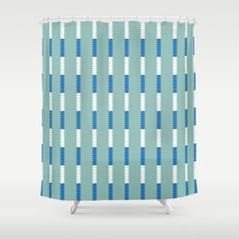 Lane Dividers Shower Curtain