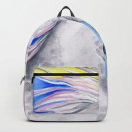 Rainbow Arabian Horse watercolor Art Backpack