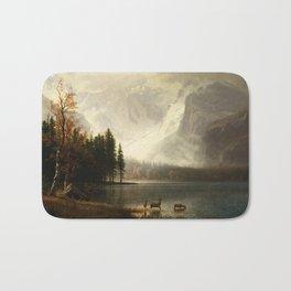 Albert Bierstadt Estes Park Colorado Whyte's Lake Bath Mat