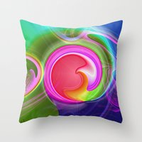 "agate Throw Pillows featuring "" Agate ""  by shiva camille"
