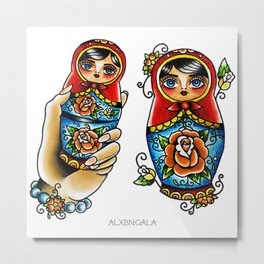 Matryoshkas Flash Metal Print