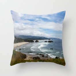 Cannon Beach Oregon, Goonies Location Throw Pillow