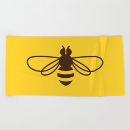 Be safe - save bees Beach Towel
