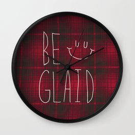 So Plaid Wall Clock