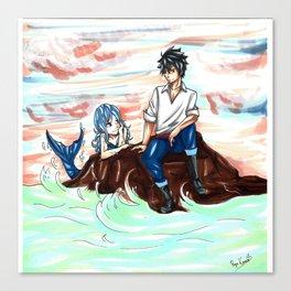 Gruvia Mermaid Canvas Print