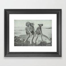 Monkey Manatee  Framed Art Print