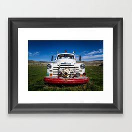 Old Fire Engine Framed Art Print