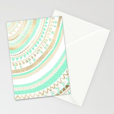Mint + Gold Tribal Stationery Cards