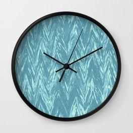 Marble Chevron Wall Clock