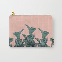 Rubber trees in group with beige pink Carry-All Pouch