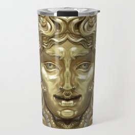 """Ancient Golden and Silver Medusa Myth"" Travel Mug"